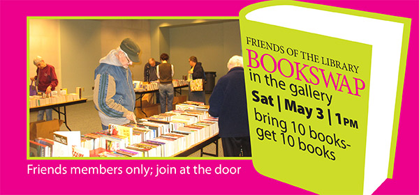Join the Friends Book Swap May 3