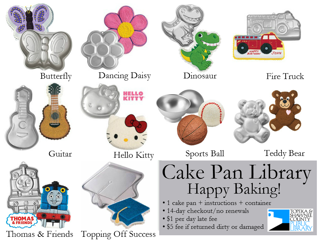 Cake Pan Library Topeka Amp Shawnee County Public Library