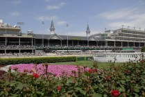 The spires of Churchill Downs