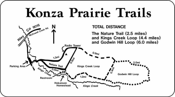 Konza Prairie Trails Map