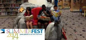 3 Children reading picture books