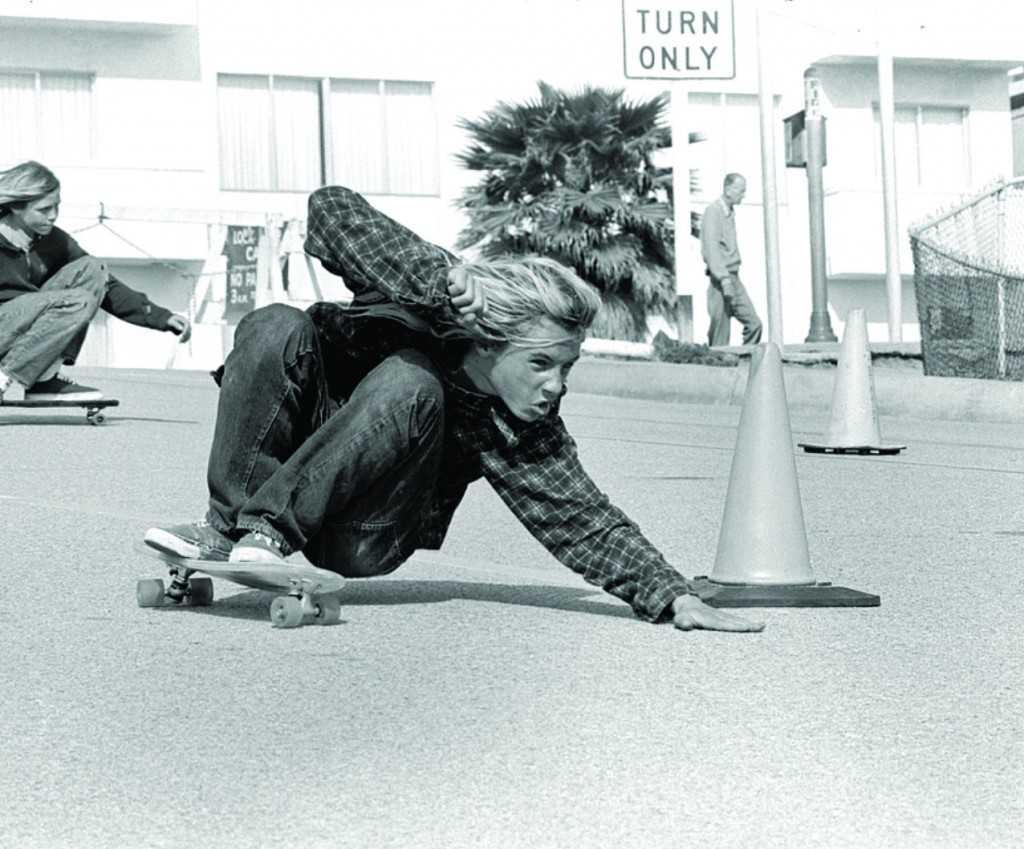 Z-Boy Jay Adams executes a Bert Slide on Bicknell Hill, Santa Monica