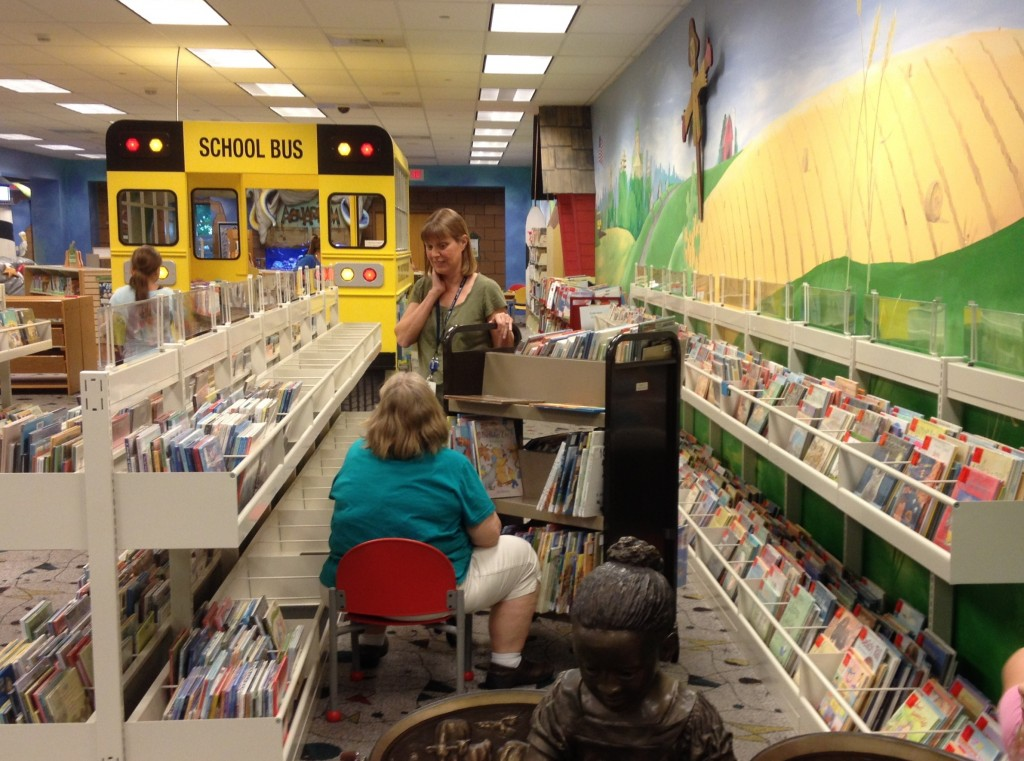 LeAnn and Betty Jean moving books