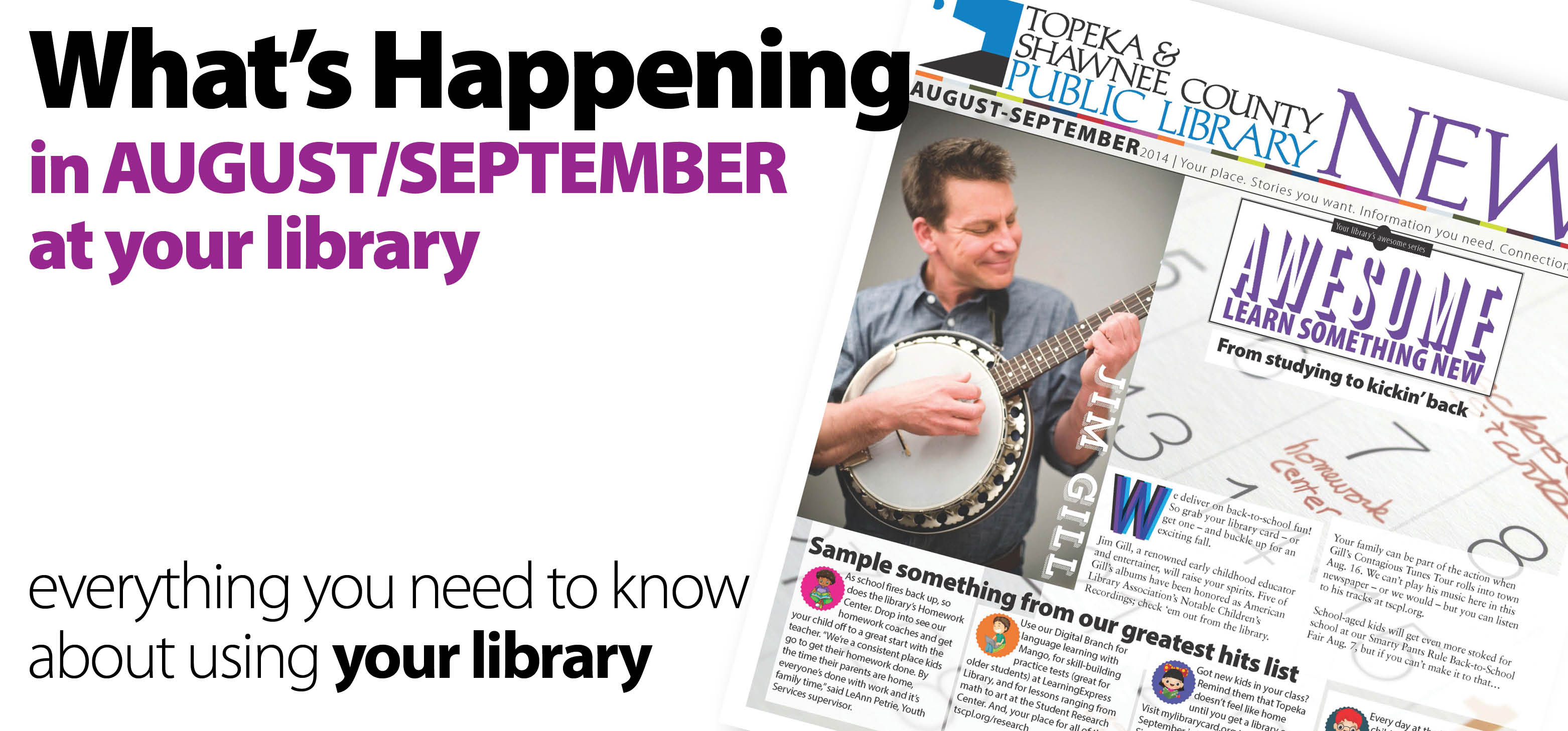read the August and September edition of Library News
