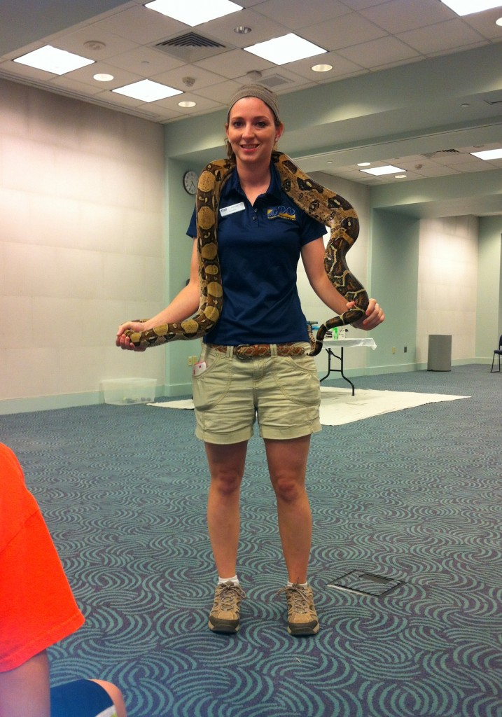 Rachael and Red-tailed Boa
