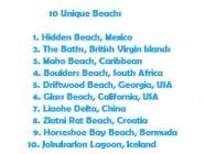 List of 10 Unique Beachs