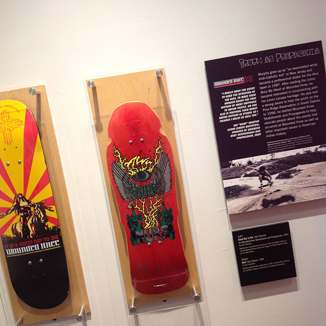 skate decks as part of the Ramp It Up exhibit