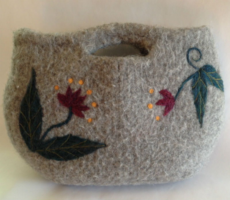 Image result for needle felted bag recycled sweater