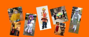 Photos of kids in Halloween costumes
