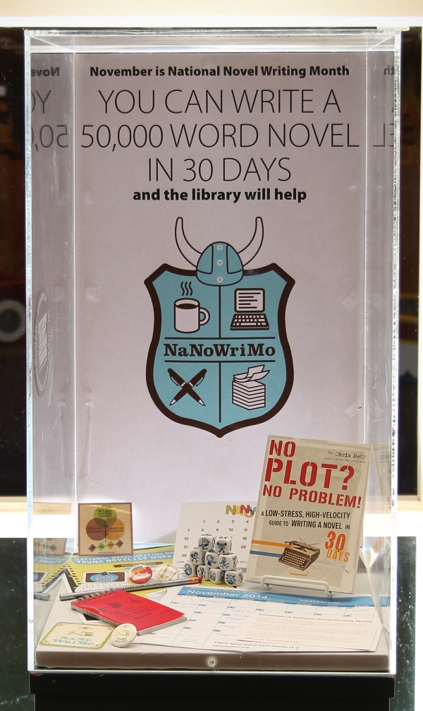 NaNoWriMo 2014 display - photo by Michael Perkins