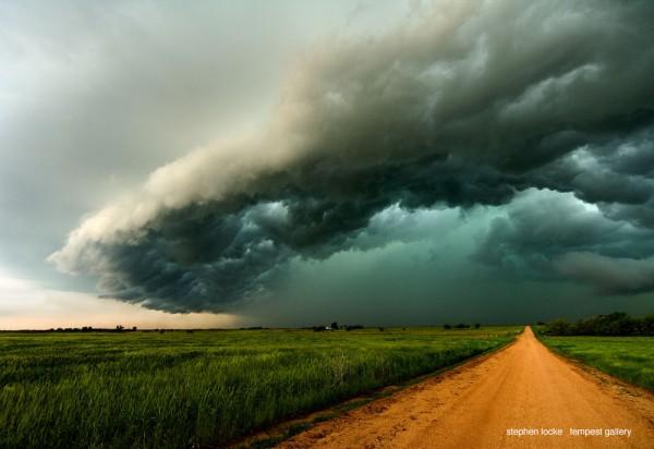 dirt road clouds