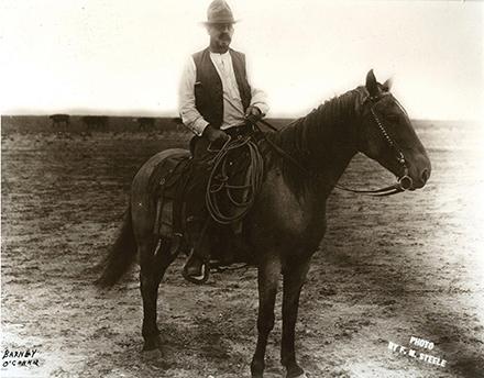 FM STeele photo of Barney O'Connor on horse