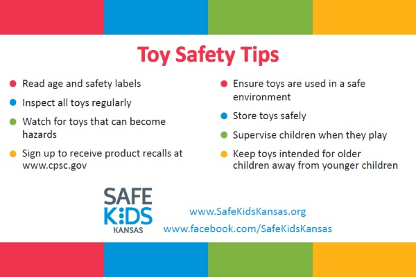 toy safety tips from safekidskansas.org