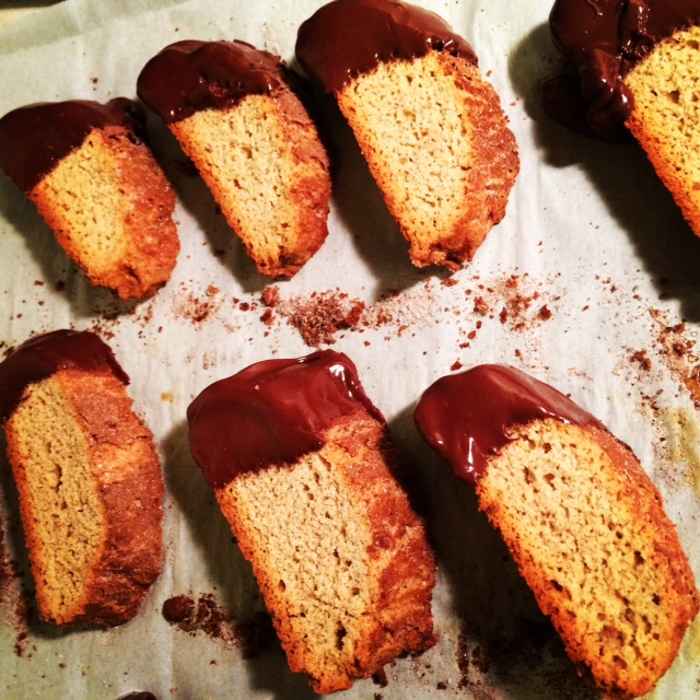 Chocolate Dipped Banana Bread Biscotti - Joy the Baker, Homemade Decadence