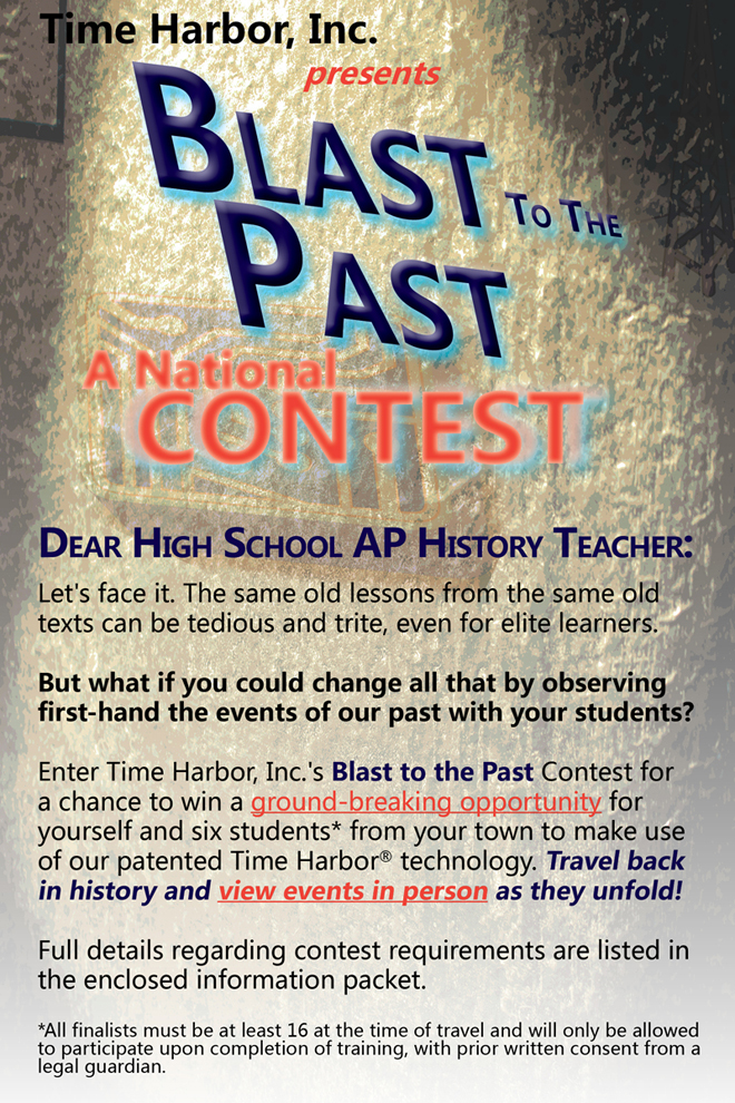 Contest Flyer from Blast to the Past