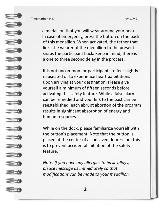 Time Harbor Safety Participant Guide Page 2
