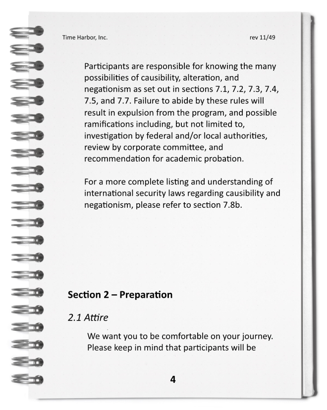 Time Harbor Safety Participant Guide Page 4