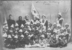 Tennessee Town kindergartners celebrate George Washington's birthday, 1899.