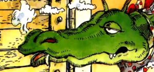 dragon from Munch's The Paper Bag Princess