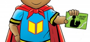 superkid with library card