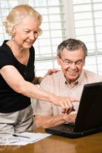 Senior Citizens on Computer - resized