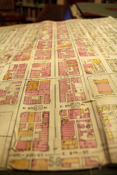 Kansas Avenue as seen in the Topeka Room's Sanborn Maps, last updated in 1945