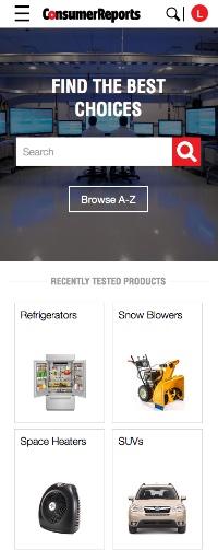 Consumer Reports website