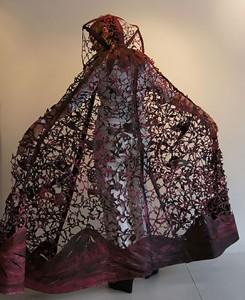 Beatrice Coron - Red Cape 2011 cut Tyvek cut Tyvek wearable art