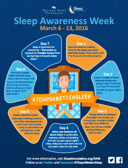 Download a Sleep Awareness Infographic from the National Sleep Foundation