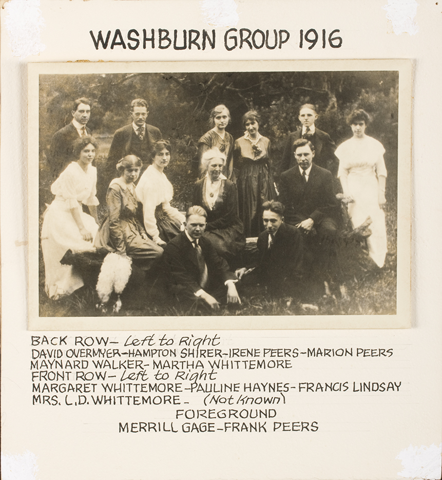 Mrs. Frances Whittemore and members of the 1916 Topeka Art Guild, courtesy of the Topeka Art Guild