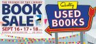 Friends Book Sale Sept 16, 17, 18, 2016