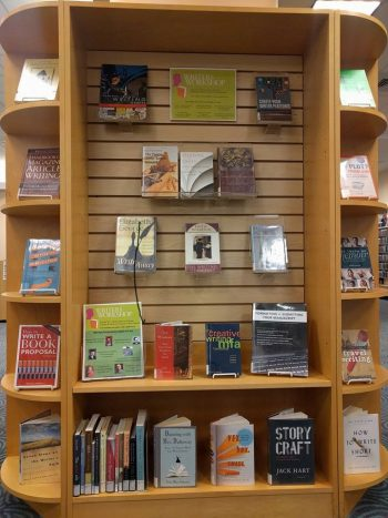 Writing resources are currently on display in the library's media center!
