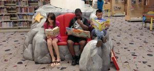kids reading in kids library