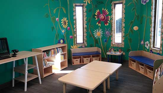 reading and play nook w board books