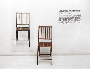 Kosuth, One and Three Chairs, 1965