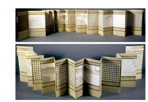 accordion folded book