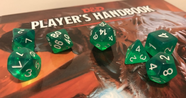 polyhedral dice set for role playing games