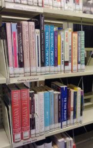 Getting Published shelf of the Writing Neigborhood