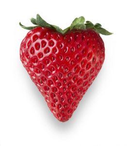 red strawberry heart