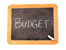chalkboard with budget