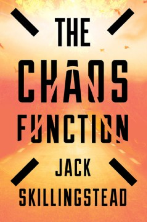 cover of book The Chaos Function - orange road and sky