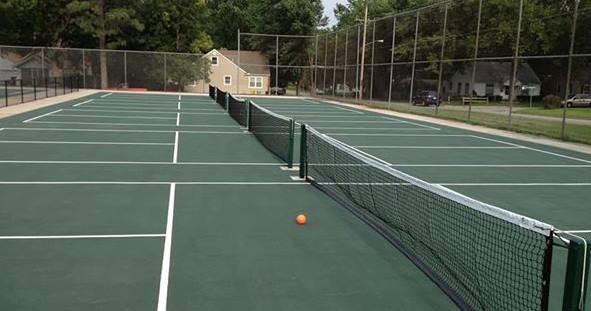 Pickleball courts at Hughes Park, 8th & Orleans, Topeka
