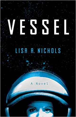 book cover of female astronaut peeking out from the bottom of the cover