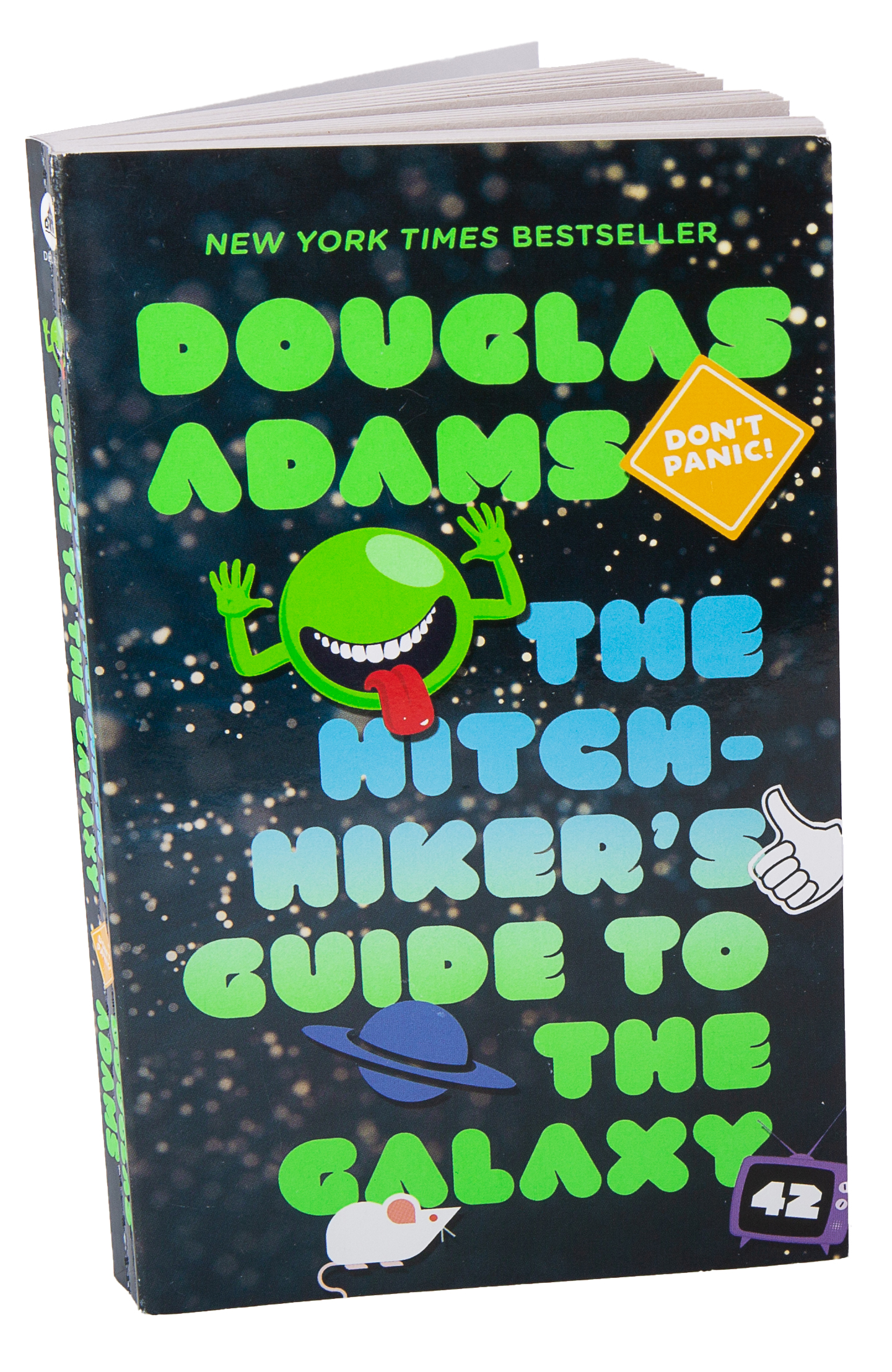 Book cover Hitchhiker's Guide to the Galazy