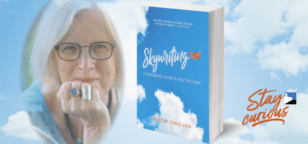 Marcia Cebulska and her book Skywriting