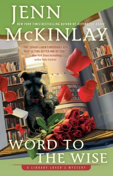book cover with Scotty dog, books and roses