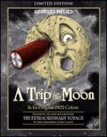 movie poster of a moon face with a telescope in the eye
