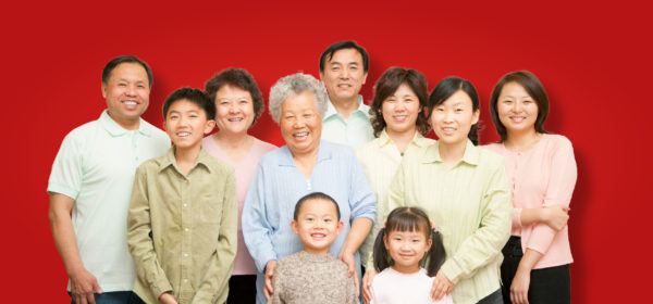 Multi-generational Chinese family