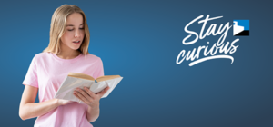 young woman reading out loud