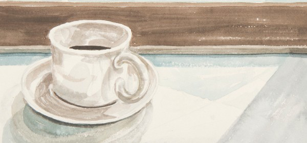 Watercolor of a cup of coffee